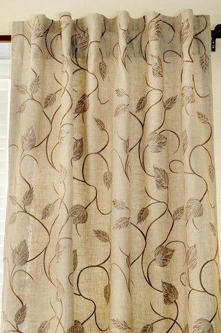leaf patterned curtain panels - Google Search