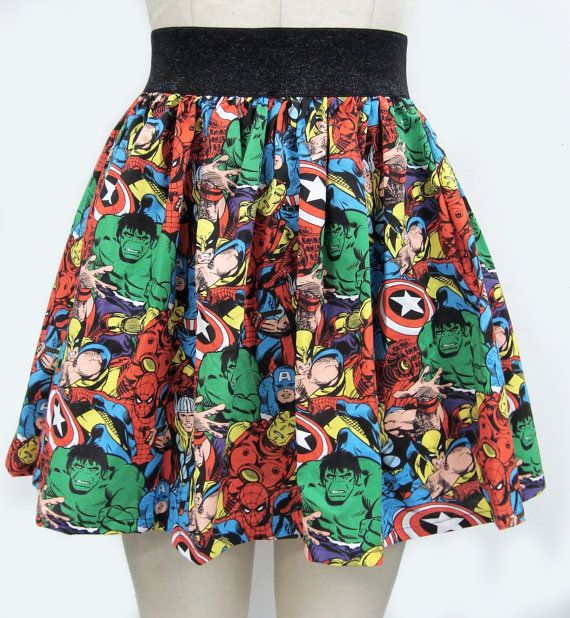 Superhero Comic Book Skirt via Etsy.