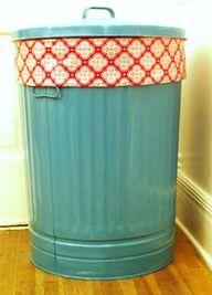 For the toy room...Painted trash can for stuffed animal storage! and 49 other great ideas