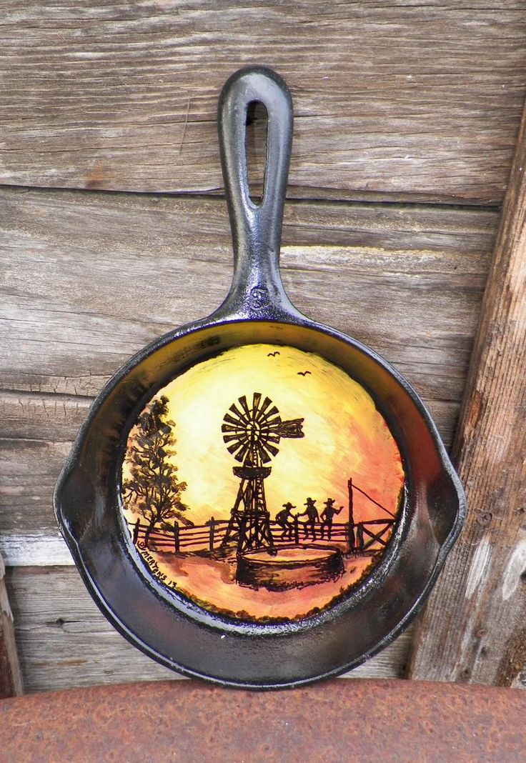 Mertens Frontier Ranch Store and Museum - Hand painted Pans and Shovels