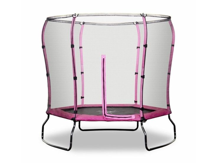Rebo Safe Jump 7FT Trampoline with Safety Enclosure - Pink