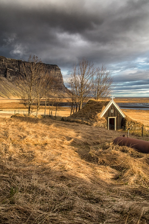 My friend Jim Caldwell's photoshoot contribution...  Small chapel on the south coast of Iceland from our recent OPW workshop with Tim Vollmer.