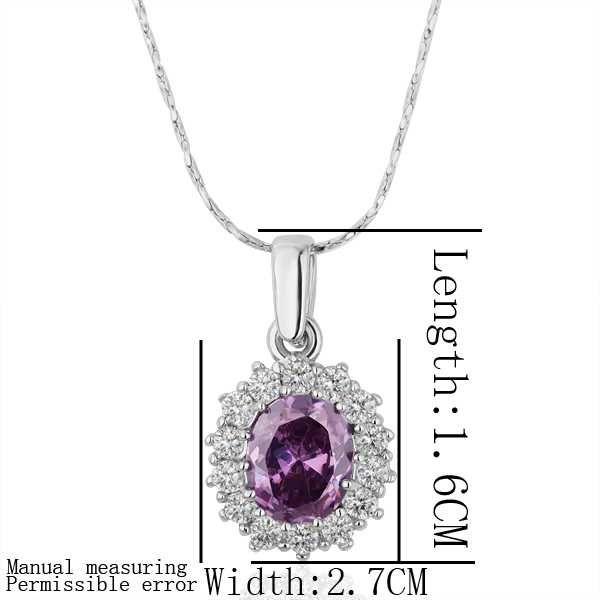 Купить 18 K GP позолота ювелирные изделия ожерелье модное фиолетовый горный…
