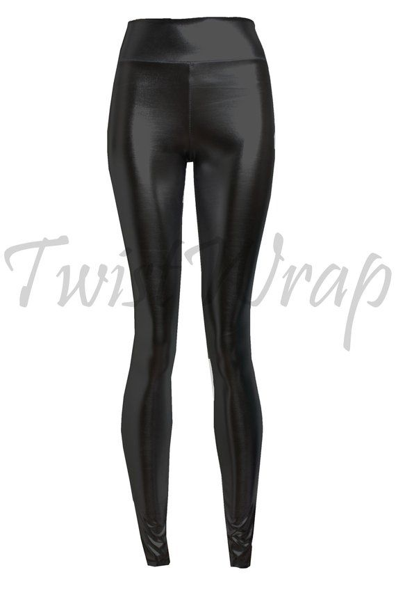 12f82d2b4f9d4 Faux Leather Leggings Black Gothic Bottoms Shiny Tights Plus Size Wet Look Pants  High Waist Sexy Rave Festival Bottoms