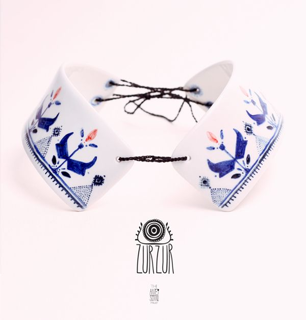 Porcelain collar, The Awesome Project | ZURZUR jewelry by madalina andronic, via Behance