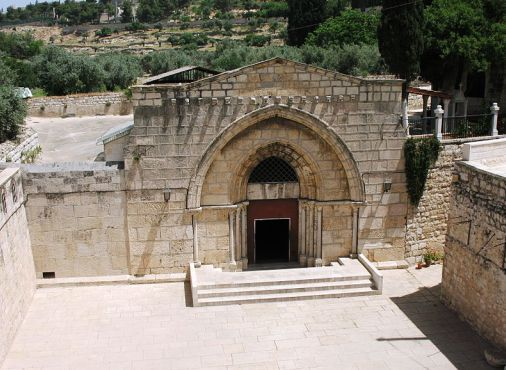 Tomb of Mary the Mother of Jesus in Kidron Valley. A site to be visited, NOT worshipped.