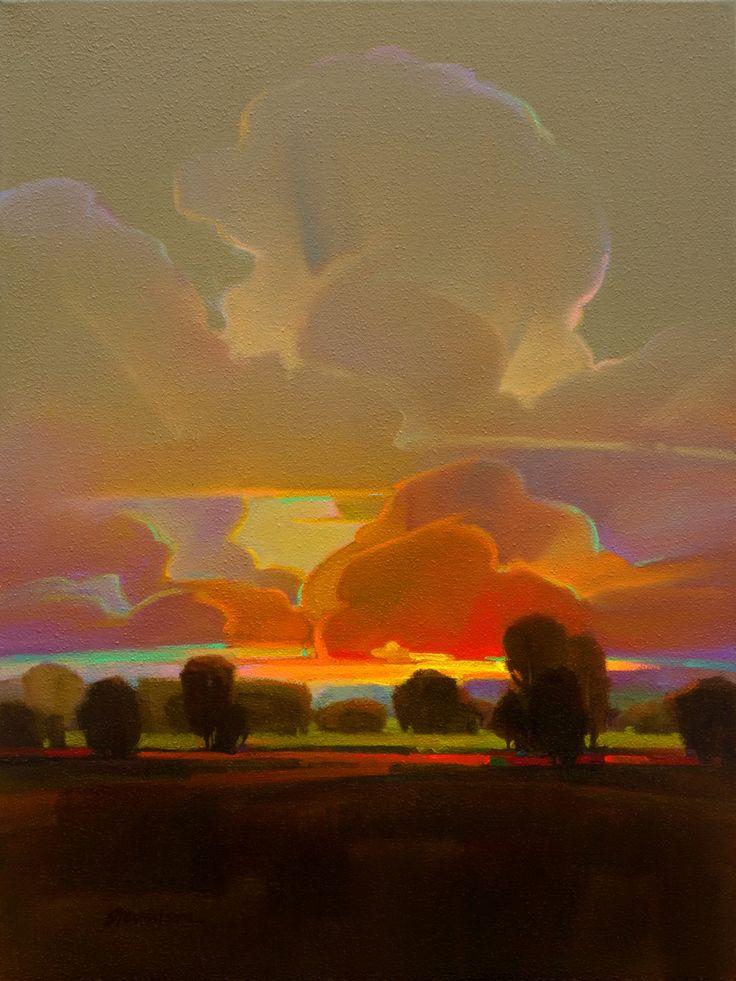 "Contemporary Painting - "" Calm Imperiled"" (Original Art from Mac Stevenson)"