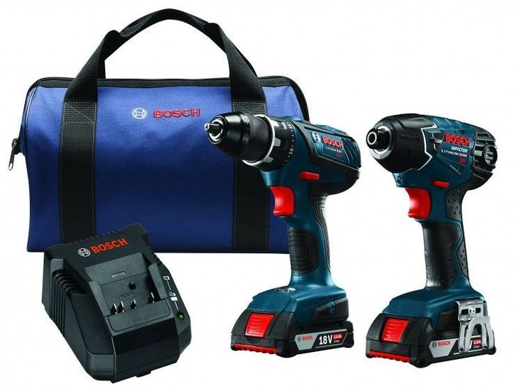 18V Cordless Drill Driver Impact Combo Kit Bosch Lithium-Ion 2 Batteries #Bosch