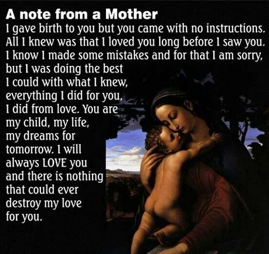 Note from a Mother
