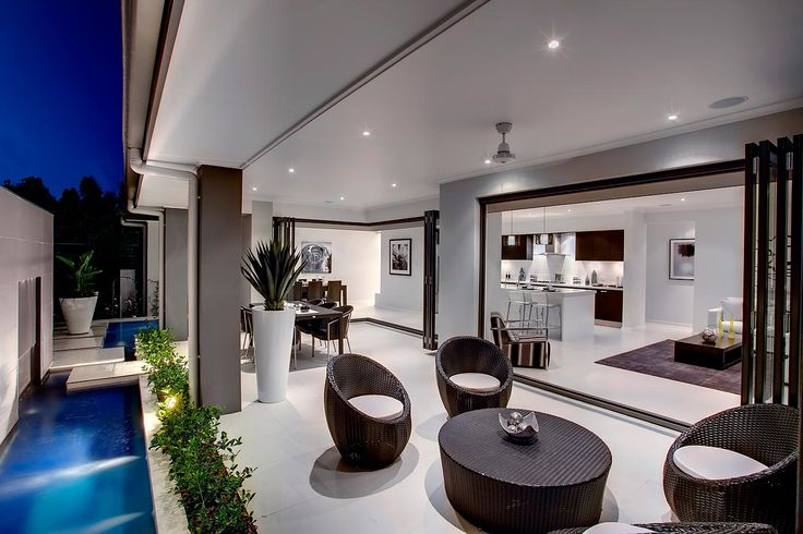 We're lucky in Australia to have a stunning climate, so make the most of it through indoor / outdoor living in your home. This is the Garden Retreat design by McDonald Jones. #outdoorliving #McDonaldJones #outdoorsetting #outside #backyard #alfresco #homedesign #inspiration