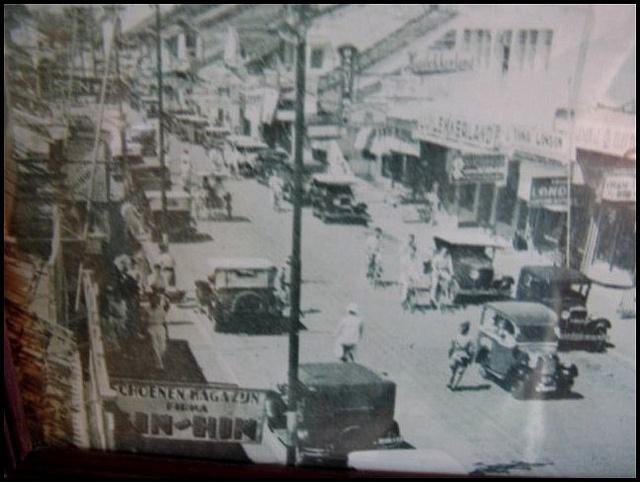 Old Jakarta, Indonesia - under Dutch rule 1910ish A photo on display in the old Batavia restaurant, Jakarta