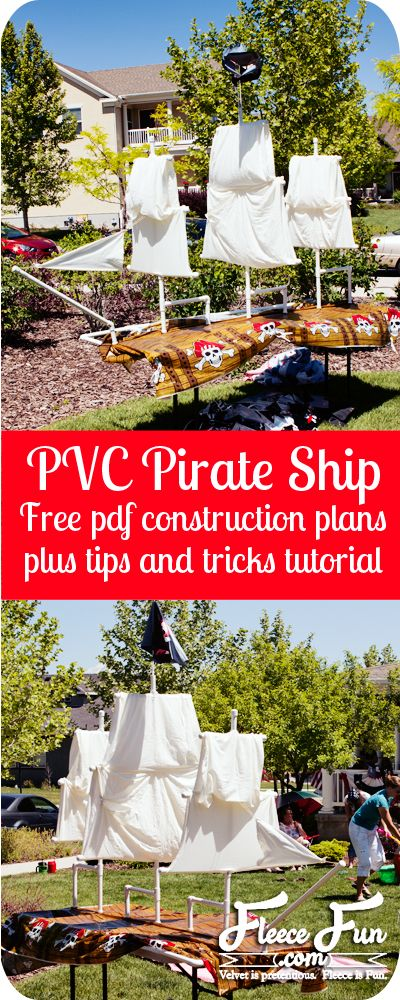 How to build a pirate ship from pvc pipe #pirate #partyPirates Ships, Pirate Ships, Birthday Parties, Fun Decor, Adult Tinker, Pirates Parties, Pipe Pirates, Pvc Pipes, Basic Adult