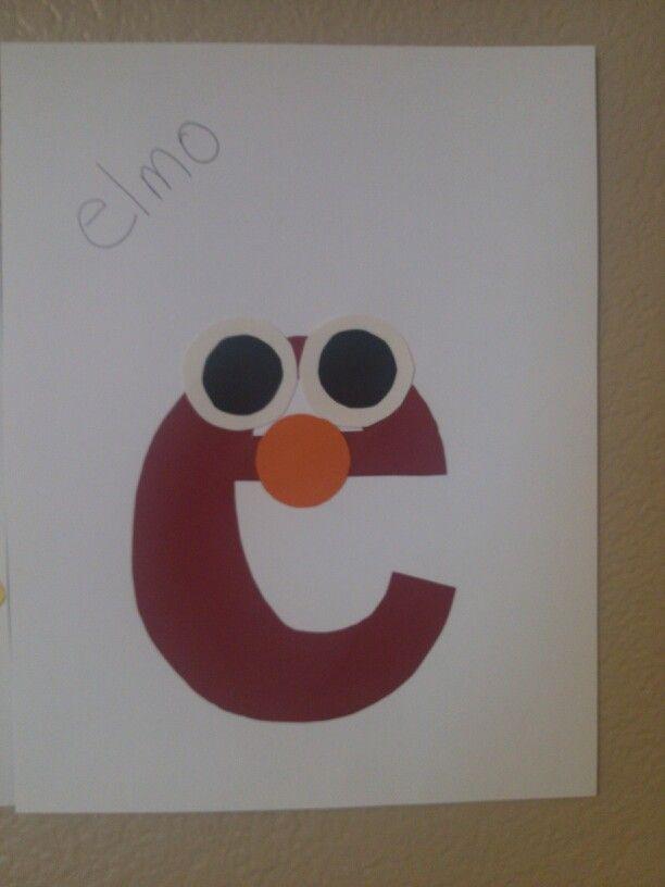 Elmo craft for the letter E ! | alphabet | Pinterest
