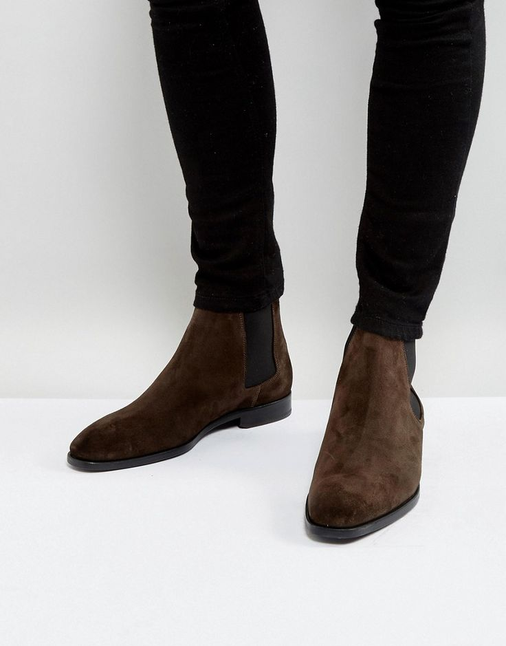 Get this Ps By Paul Smith's basic boots now! Click for more details. Worldwide shipping. PS by Paul Smith Gerald Suede Chelsea Boots in Brown - Brown: Boots by PS By Paul Smith, Suede upper, Elasticated inserts, Slim toe, Pull tab, Leather sole, Wipe with a soft cloth, 80% Real Leather, 20% Elastane Upper. Designed in the UK, PS by Paul Smith bears all the hallmarks of Sir Paul Smith�s individual and quintessentially British style. Signature prints are spread across slim fit shirts, while…