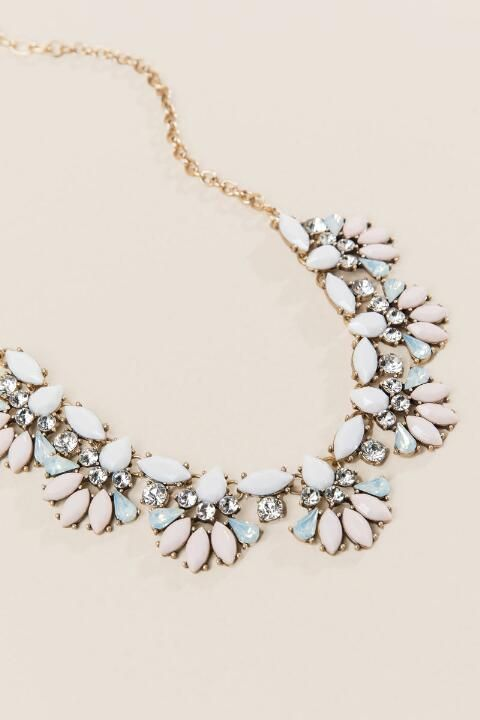 Hailey Opaque Statement Necklace