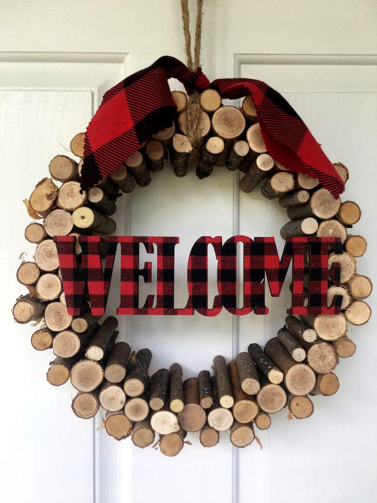 Rustic lumberjack wreath