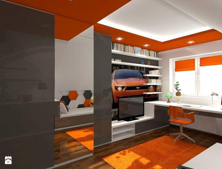 Pokój młodzieżowy Fluffo HEXA (Projekt by: Artdekor Studio Projektowe) - zdjęcie od Fluffo, Fabryka Miękkich Ścian