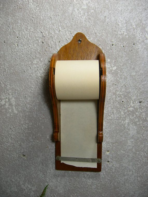 Wall Mounted Wooden Note Paper Grocery List Holder Stuff