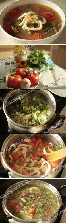 Итальянский суп с кальмарами | Вкус жизни