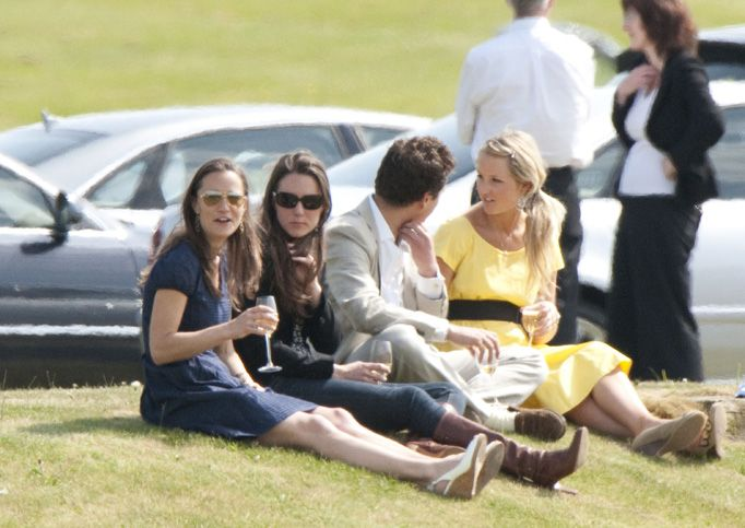 5/10/2009: Audi Polo Challenge charity match at Guards Polo Club, with Pippa Middleton & Thomas van Straubenzee (Windsor, Berkshire)
