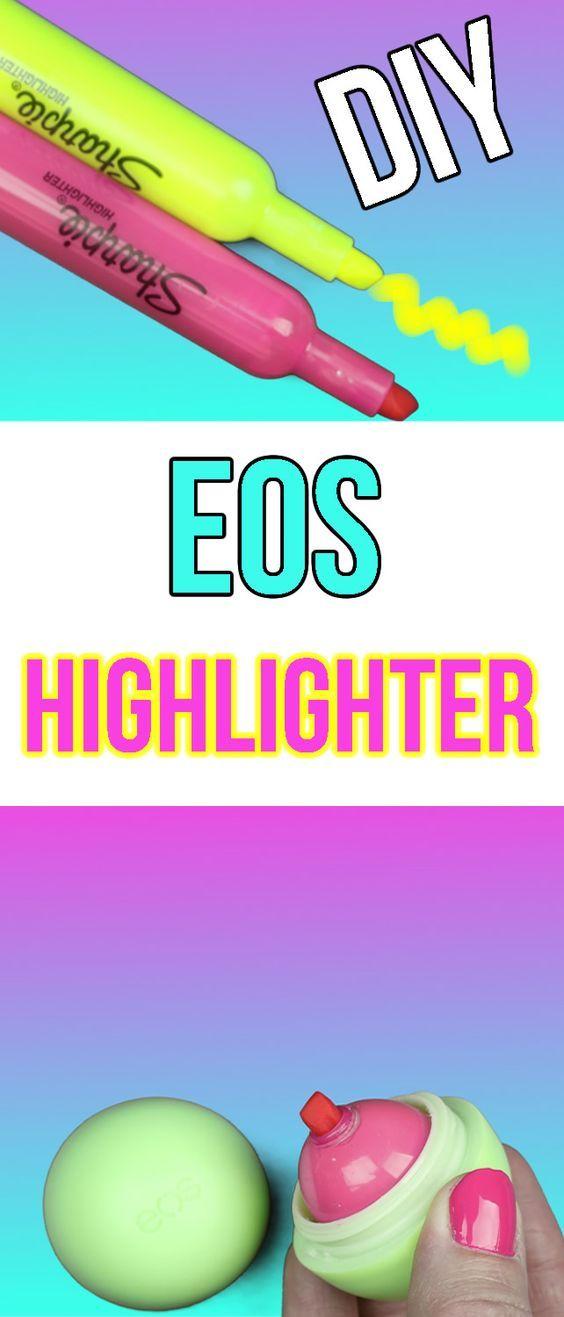 DIY EOS Highlighters | Kimspired DIY