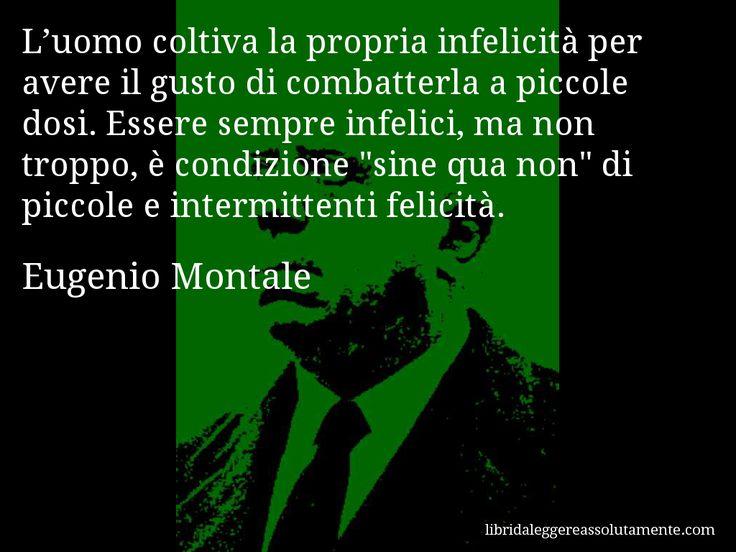 Cartolina con aforisma di Eugenio Montale (0)