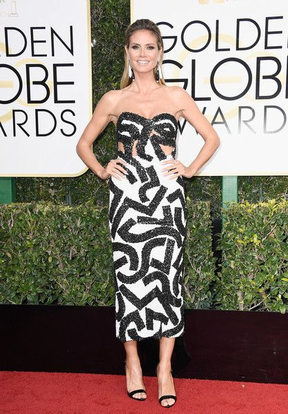 Heidi Klum - Every Best Dressed Look from the 2017 Golden Globes - Photos