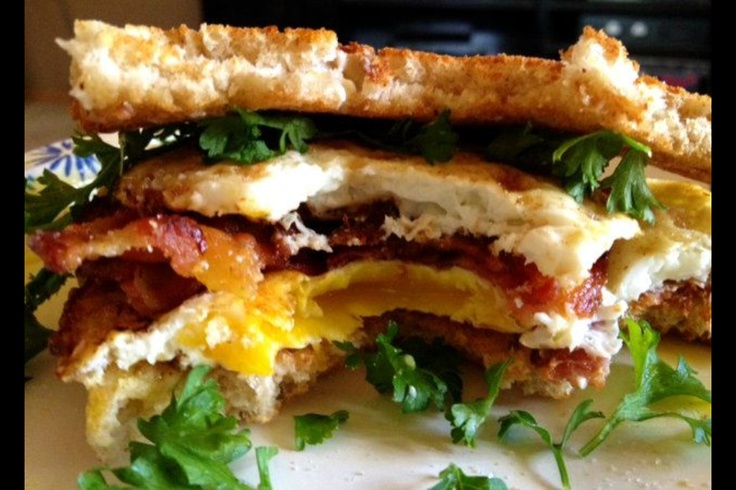 lowcarb bacon egg amp avocado sammie with lite green onion amp parsley ...