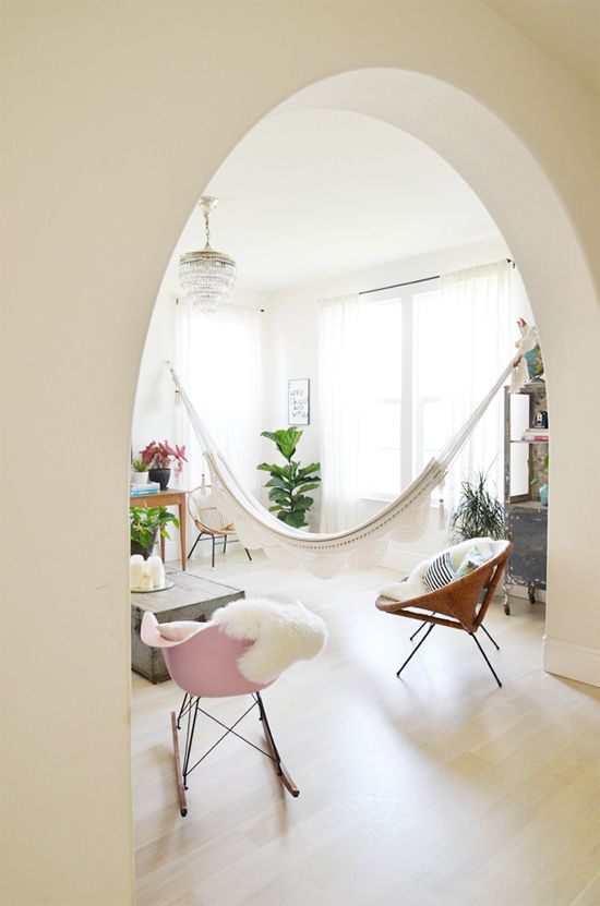 Hanging Out: Indoor Hammocks - At Home In Love