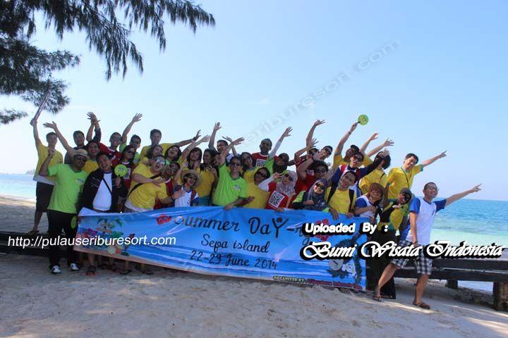 Keceriaan PT NESTLE INDONESIA at Pulau Sepa Kepulauan Seribu, 22 - 23 June 2014.