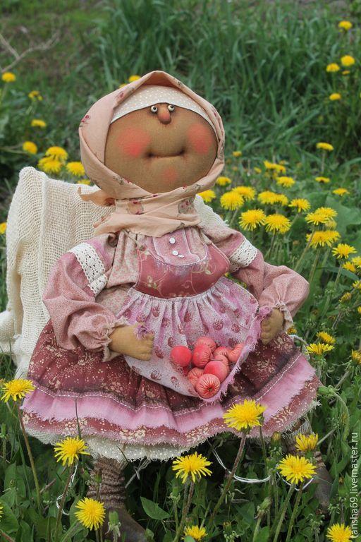 Купить Яблочки для внучков! - разноцветный, текстильная кукла, ароматизированная кукла, интерьерная кукла, деревенский стиль
