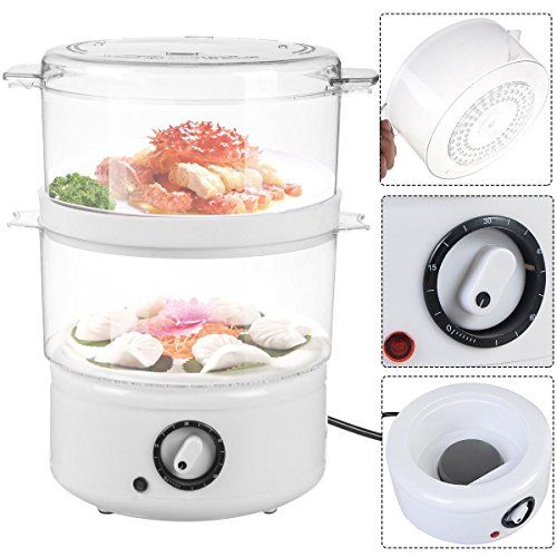 Electric Vegetable Steamer Stainless Steel Food Steamers Kitchen Meal Steaming