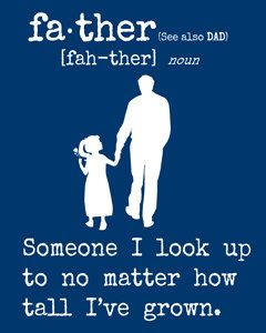 "Father & Daughter Art Print/  For Dad Birthday/ Father's Day  - Download/ Printable Art -  8"" x 10""   More Colors Available on Etsy, $1.99"