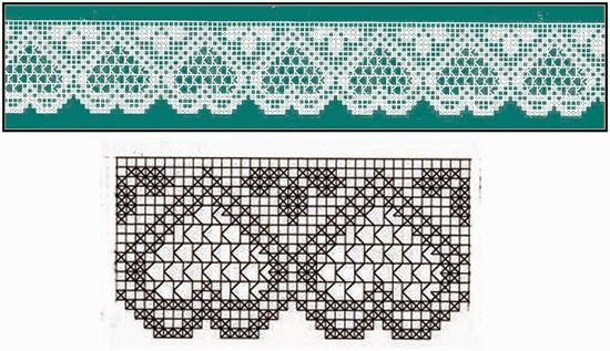 Letras e Artes da Lalá: Barrados de crochê (www.pinterets.com)