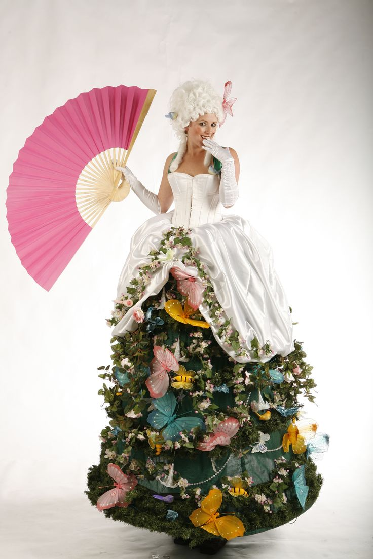 Adult tree costume with stilts
