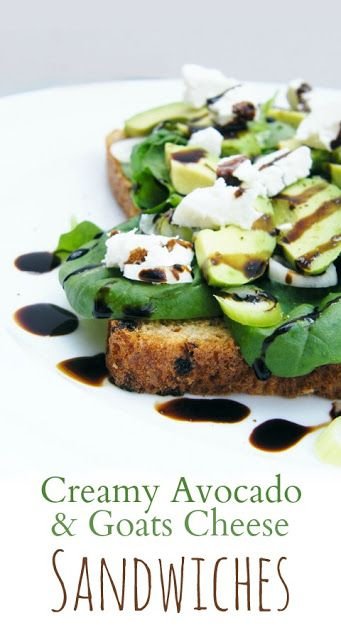 Creamy Avocado and Goats Cheese Sandwiches