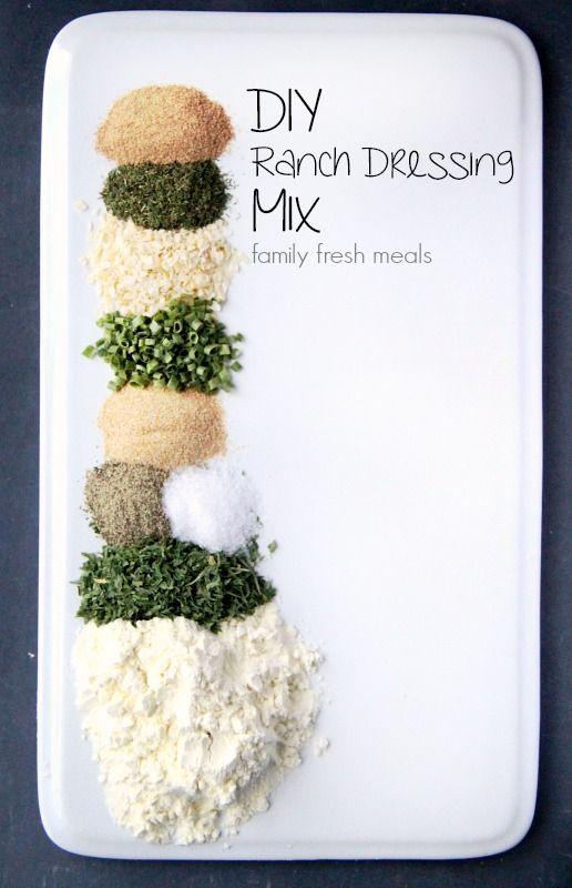 DIY Homemade Ranch Dressing Mix - FamilyFreshMeals.com