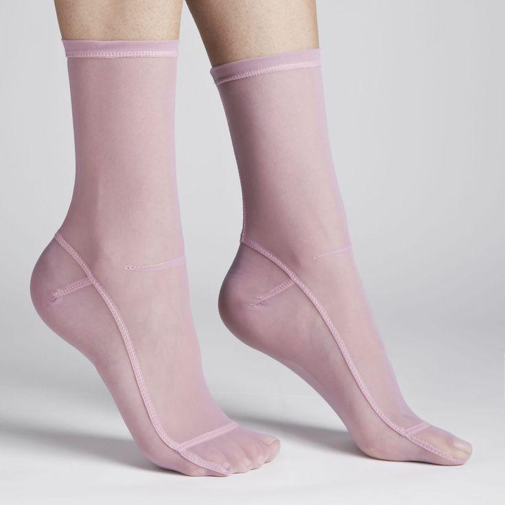 Darner Pevné růžové oko ponožky