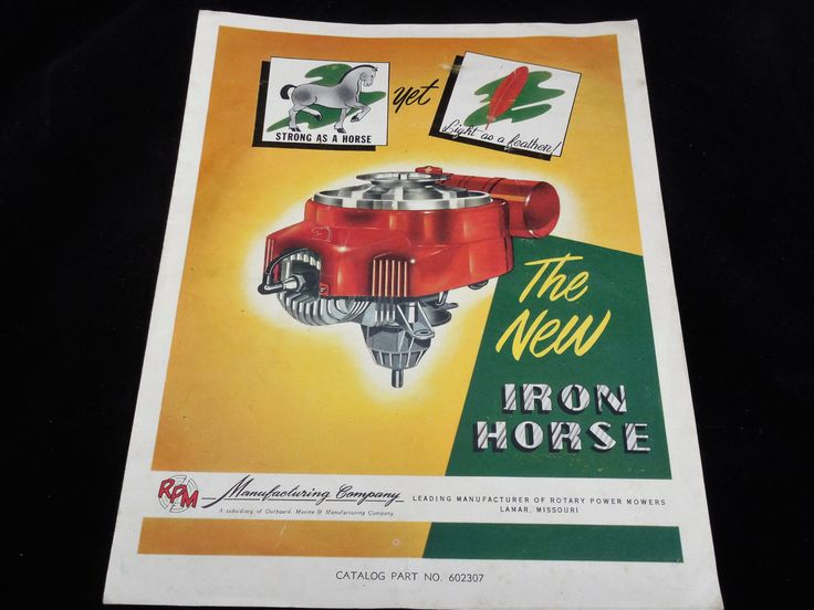 RPM Engine Parts Manual, The New Iron Horse Engine by Rotary Power Motors, Strong as a Horse, Light as a Feather by ShellyisVintage on Etsy