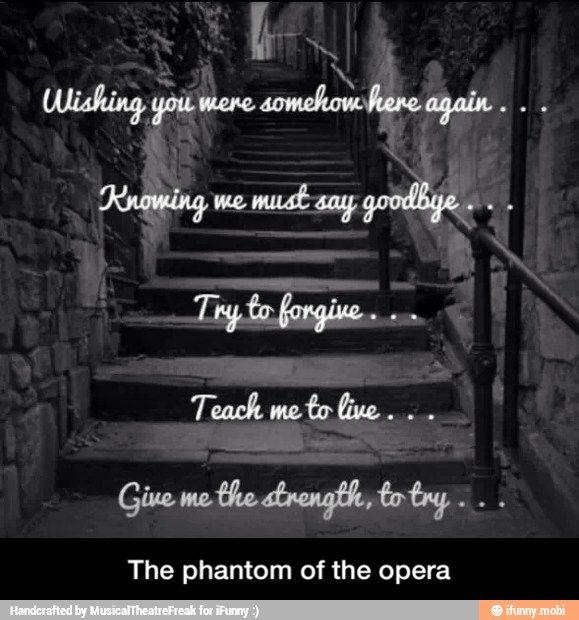 The Phantom Of The Opera Wishing You Were Somehow Here