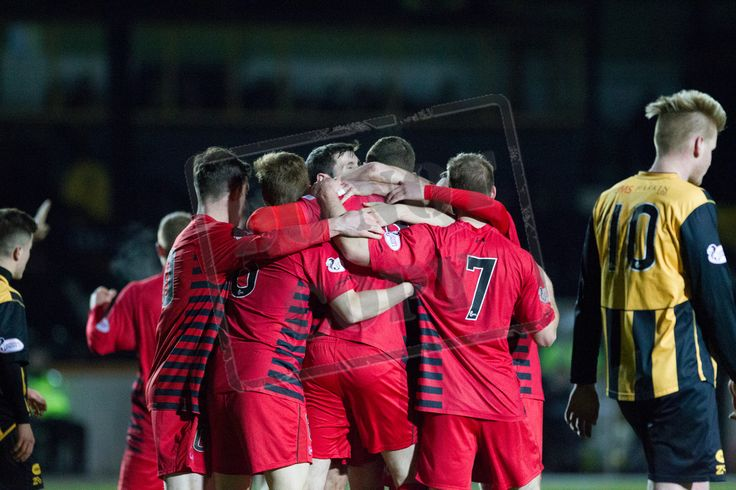 Queen's Park players celebrate Ryan McGeever's goal during the SPFL League Two game between Berwick Rangers and Queen's Park