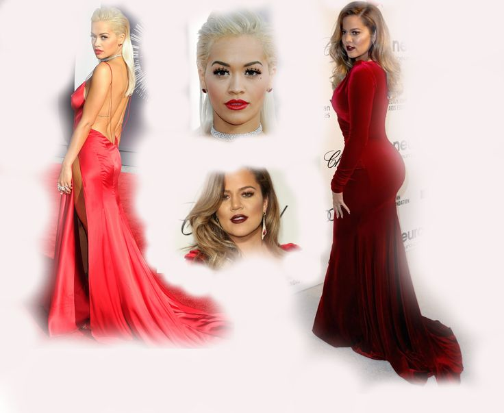red long dress, Rita Ora VS Khloe Kardashian Odom fashion diva who-wore-it-better celeb celebrity