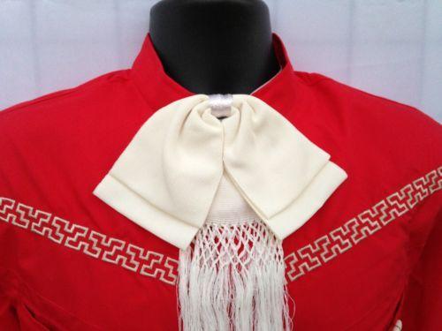 Mexican Charro/Mariachi Ivory Adult Bow tie from Mexico. Moño Charro y Mariachi $10