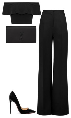 """""""Untitled #737"""" by kylie100 ❤ liked on Polyvore featuring Roksanda, WearAll, Yves Saint Laurent and Christian Louboutin"""