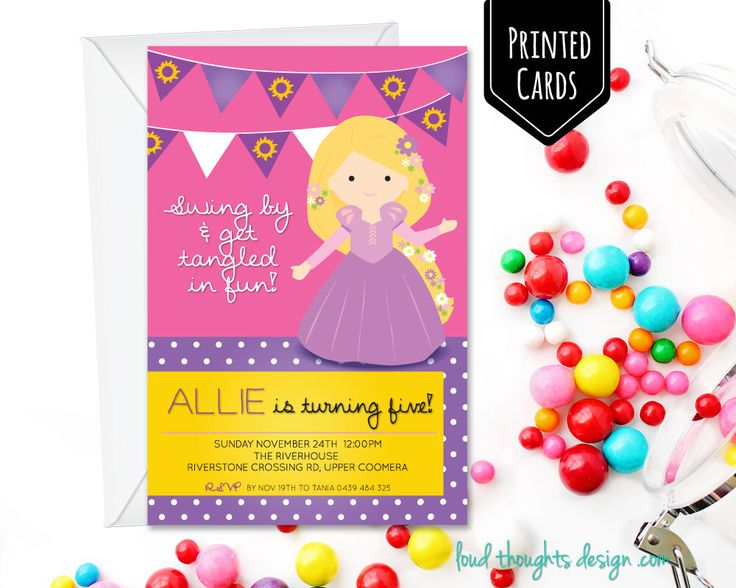 Rapunzel Birthday Printed Invitations/ Tangled Birthday Invite/ Custom Invitation/ Personalised Birthday Party/ Party Printables by LoudThoughtsDesign on Etsy https://www.etsy.com/au/listing/464401899/rapunzel-birthday-printed-invitations
