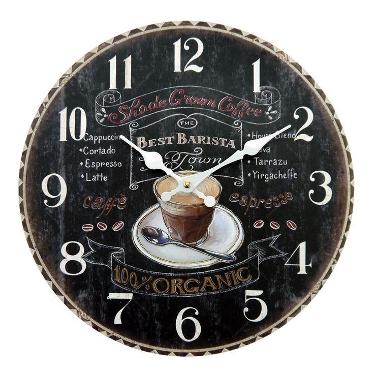 Que tal estes lindos relógios da loja Carro de Mola Compre aqui: www.carrodemola.com.br/produtos/20167/relogio-parede-redondo-cafe-mdf-34x34-cm #relógios #decoração
