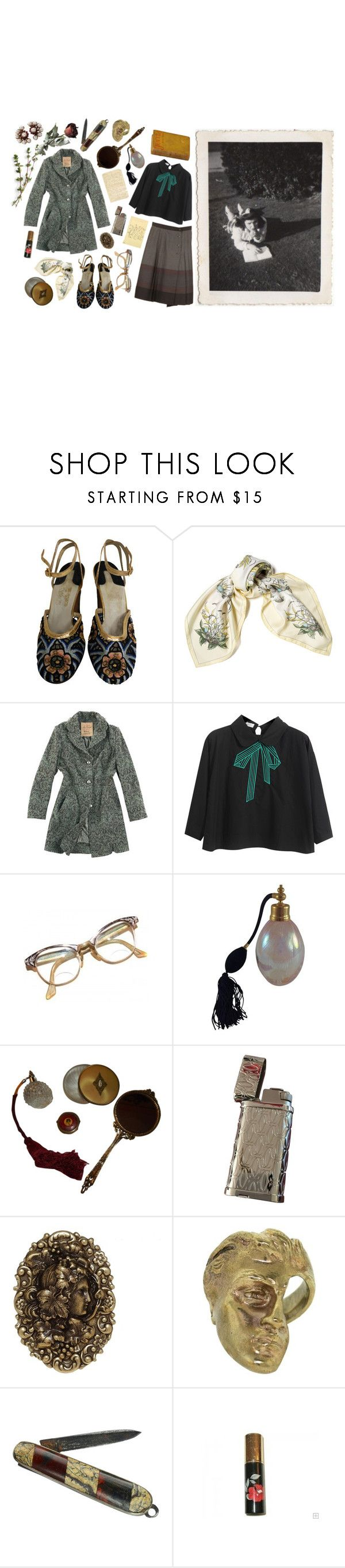 """Untitled #1995"" by flapper-shoes ❤ liked on Polyvore featuring Salvatore Ferragamo, Hermès, Joe Browns, Chicnova Fashion, Retrò, DK, Verde Rocks, Yunus & Eliza, red flower and Goossens"