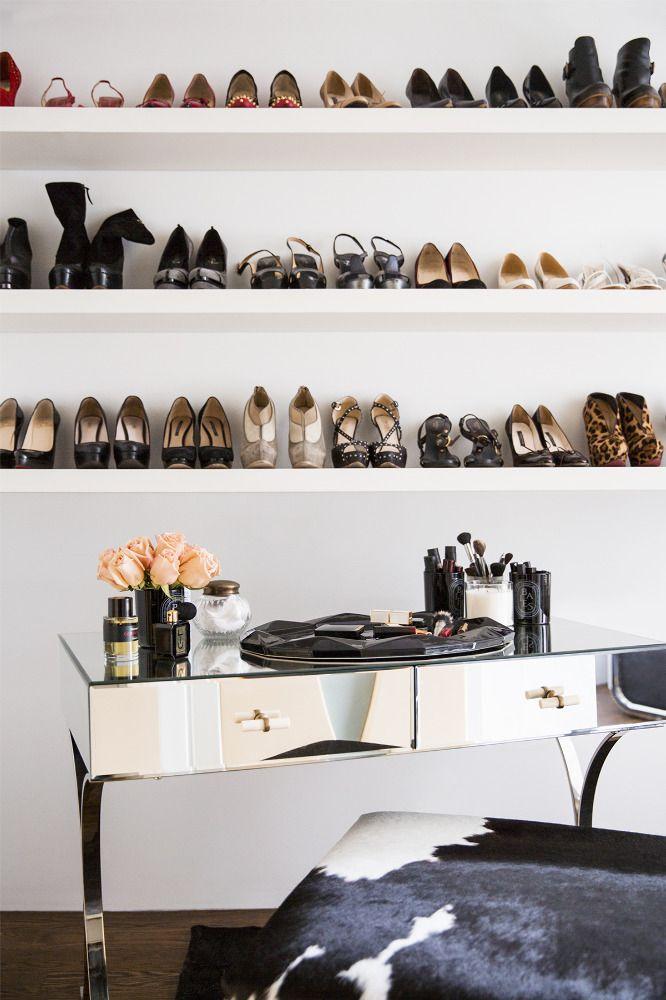 shoe closet | via domino