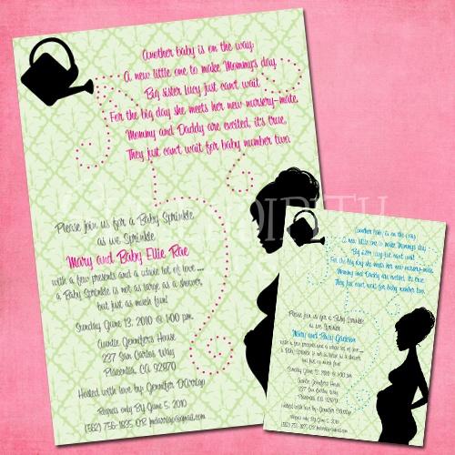 Baby Girl Sprinkle-baby shower, sprinkle, baby sprinkle, big brother, big sister, invitation, invite, party, celebration, pregnant mom, girl, neutral, gender unknown, baby, shabby chic