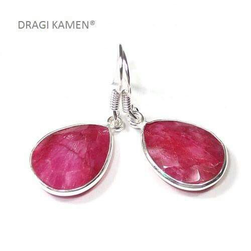 Robijn oorbellen / Ruby earrings  -  Dragi Kamen